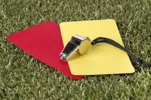Red and yellow cards
