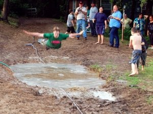 Mud-pit belly flop
