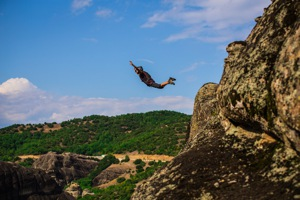 Base jumping in Greece